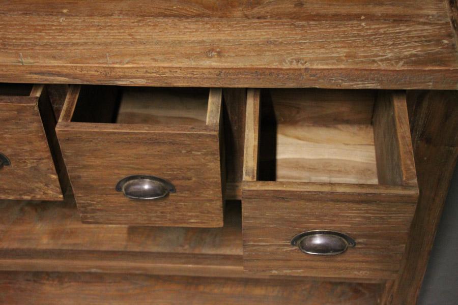 b nke kommoden kommode santoso aus alten teakplanken 140x40cm. Black Bedroom Furniture Sets. Home Design Ideas