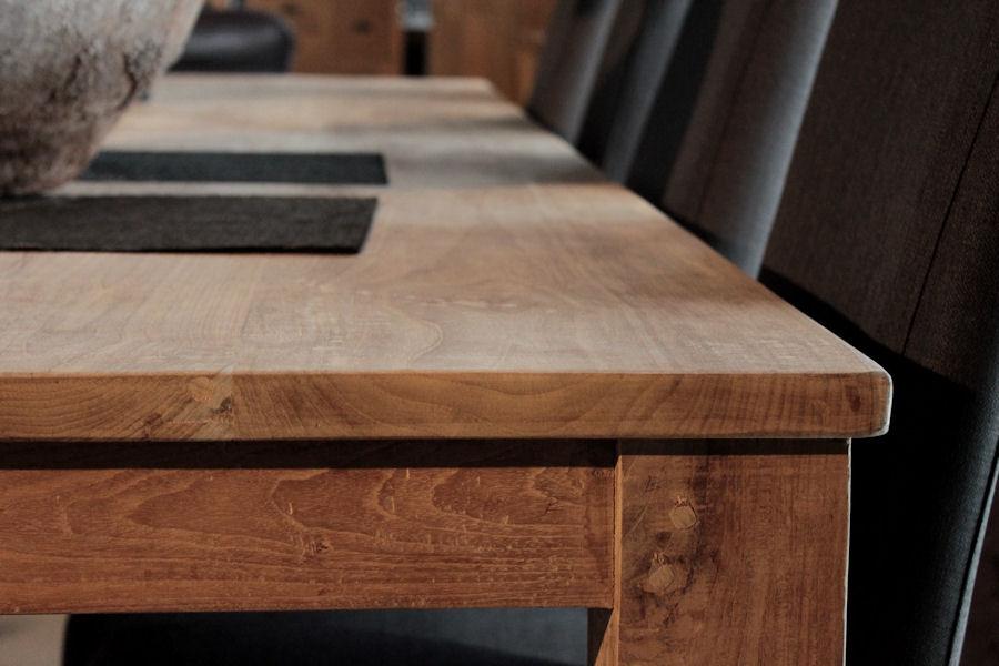 Teakholz tisch massiv  Wooden Affairs | Detailansicht | Massivholztische Teak – Bagus ...